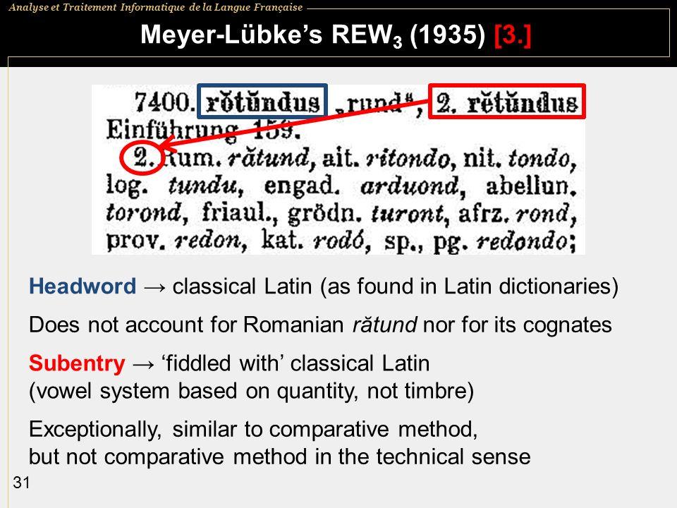 Meyer-Lübke's REW3 (1935) [3.]